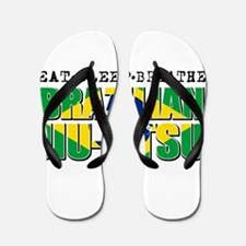 Eat Sleep Brazilian Jiu Jitsu Flip Flops