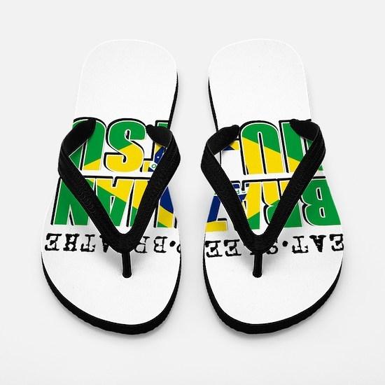 Eat Sleep Brazilian Jiu Jitsu Flip Flops