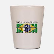 Eat Sleep Brazilian Jiu Jitsu Shot Glass