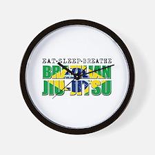 Eat Sleep Brazilian Jiu Jitsu Wall Clock