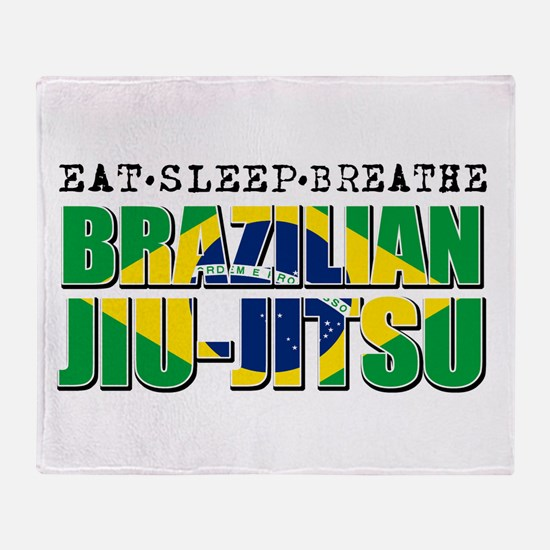 Eat Sleep Brazilian Jiu Jitsu Throw Blanket