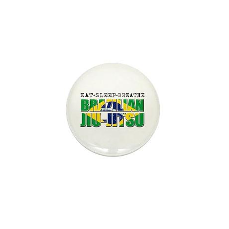 Eat Sleep Brazilian Jiu Jitsu Mini Button (10 pack