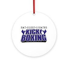 Eat Sleep Kickboxing Ornament (Round)