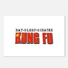 Eat Sleep Kung Fu Postcards (Package of 8)
