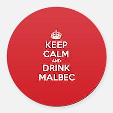 K C Drink Malbec Round Car Magnet