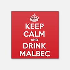 "K C Drink Malbec Square Sticker 3"" x 3"""