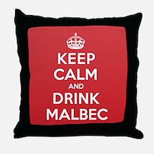 K C Drink Malbec Throw Pillow