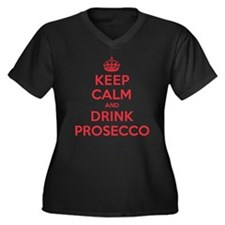 K C Drink Prosecco Women's Plus Size V-Neck Dark T