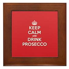 K C Drink Prosecco Framed Tile