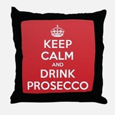 K C Drink Prosecco Throw Pillow
