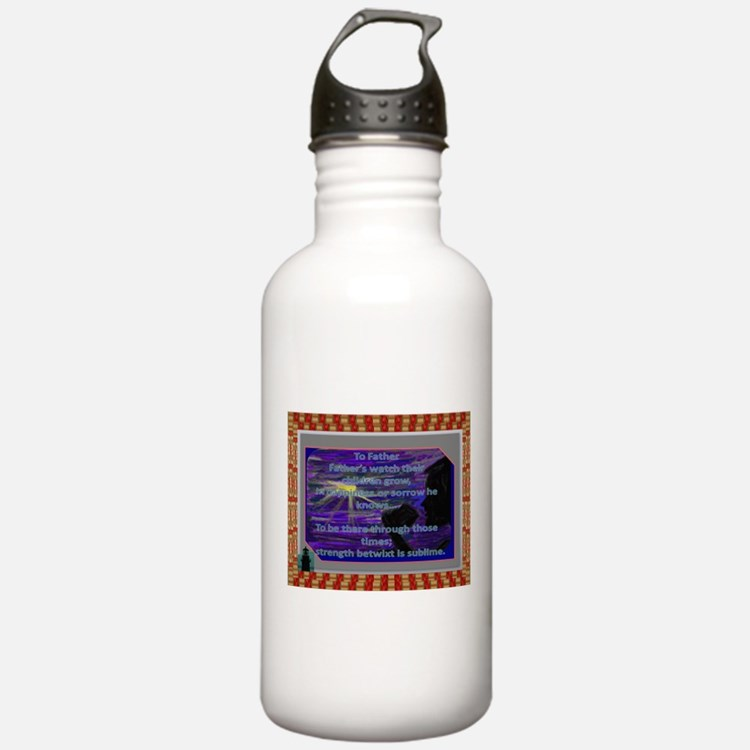 To Father (Poem~Gift) Water Bottle