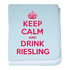 K C Drink Riesling baby blanket
