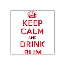 """K C Drink Rum Square Sticker 3"""" x 3"""""""