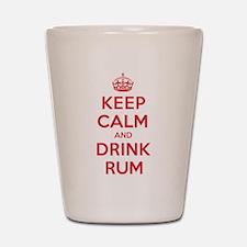 K C Drink Rum Shot Glass