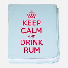 K C Drink Rum baby blanket
