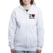 Aikido Heart Designs Zip Hoodie
