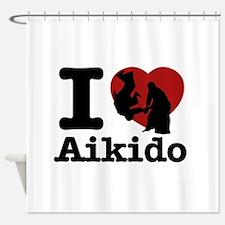 Aikido Heart Designs Shower Curtain