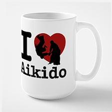 Aikido Heart Designs Large Mug