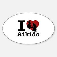 Aikido Heart Designs Sticker (Oval)