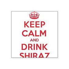 "K C Drink Shiraz Square Sticker 3"" x 3"""