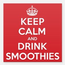 """K C Drink Smoothies Square Car Magnet 3"""" x 3"""""""