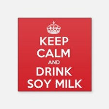 "K C Drink Soy Milk Square Sticker 3"" x 3"""