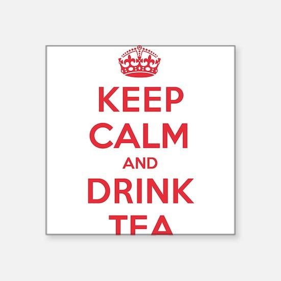 "K C Drink Tea Square Sticker 3"" x 3"""