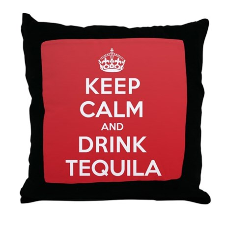 K C Drink Tequila Throw Pillow