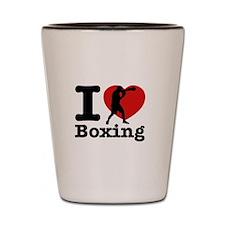 Boxing Heart Designs Shot Glass