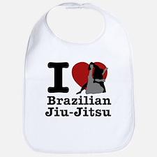 Brazilian Jiu Jitsu Heart Designs Bib