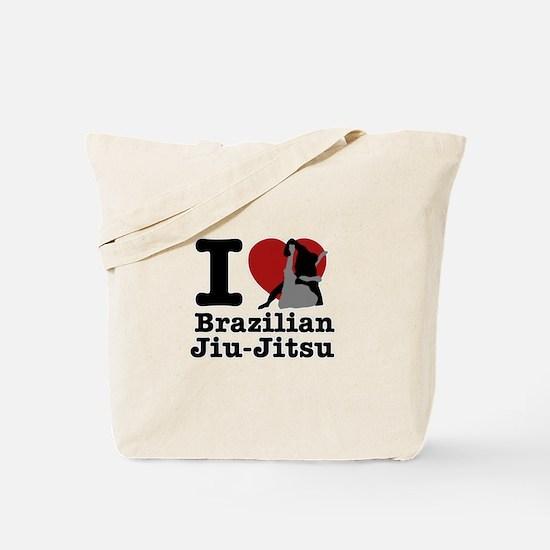Brazilian Jiu Jitsu Heart Designs Tote Bag