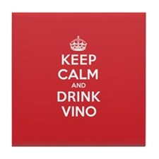 K C Drink Vino Tile Coaster