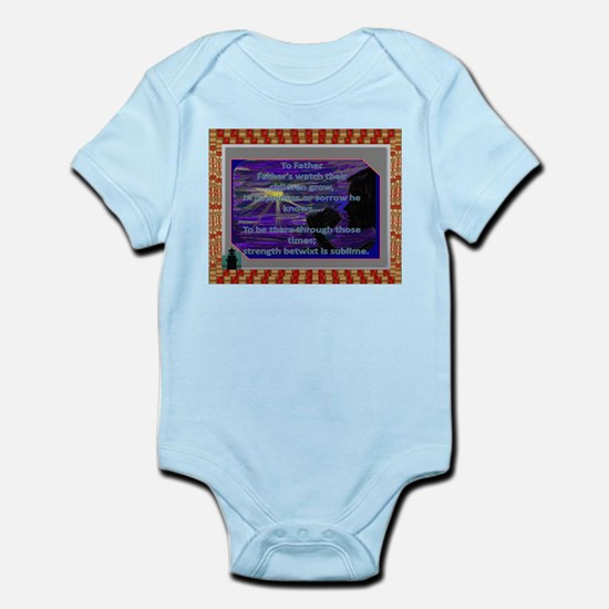 To Father, Poem on Infant Bodysuit to honor dads.