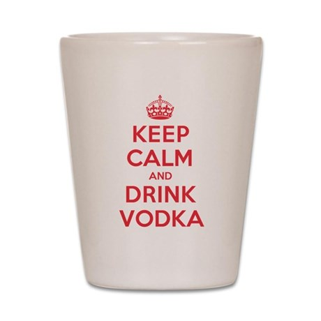 K C Drink Vodka Shot Glass