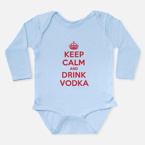 K C Drink Vodka Long Sleeve Infant Bodysuit