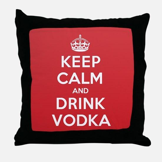 K C Drink Vodka Throw Pillow
