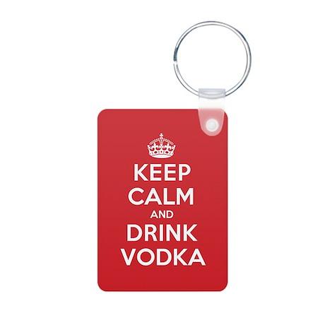 K C Drink Vodka Aluminum Photo Keychain