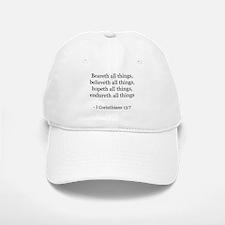 I Corinthians 13:7 Baseball Baseball Cap