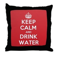 K C Drink Water Throw Pillow