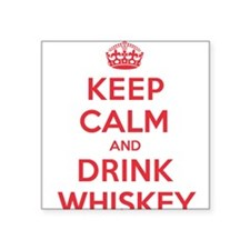 "K C Drink Whiskey Square Sticker 3"" x 3"""