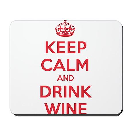 K C Drink Wine Mousepad