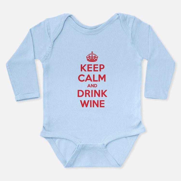 K C Drink Wine Long Sleeve Infant Bodysuit