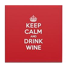 K C Drink Wine Tile Coaster