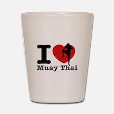 Muay Thai Heart Designs Shot Glass