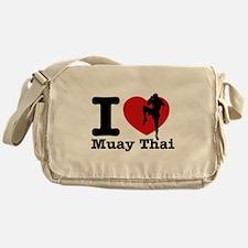 Muay Thai Heart Designs Messenger Bag