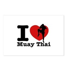 Muay Thai Heart Designs Postcards (Package of 8)