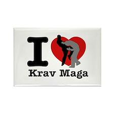 Krav Maga Heart Designs Rectangle Magnet