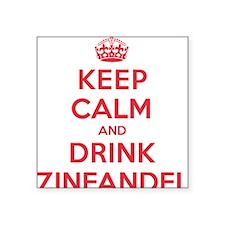 "K C Drink Zinfandel Square Sticker 3"" x 3"""