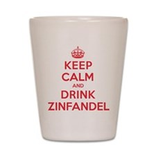 K C Drink Zinfandel Shot Glass