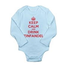 K C Drink Zinfandel Long Sleeve Infant Bodysuit